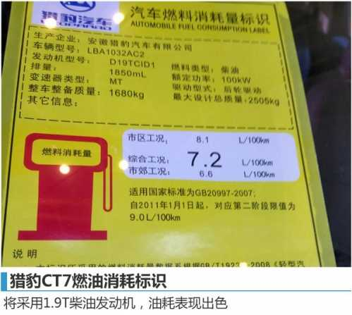 猎豹CT7皮卡售价曝光8.98万元起 猎豹皮卡