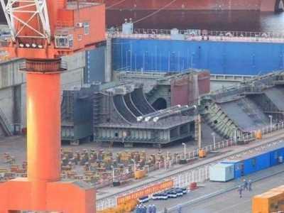 中国第四艘核航母疑似开建 大连航母