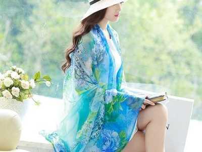 长丝巾美女图片 丝巾的图片