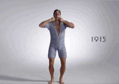 男模泳裤凸起尴尬图片 男性裤子突起动图