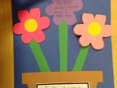 简单又可爱的教师节花朵贺卡手工制作图解 手工制作教师节卡片