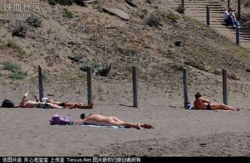 实拍旧金山的天体海滩 天体海滩图片